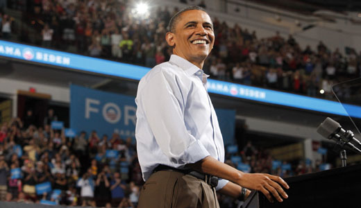 Obama tears into Romney at campaign kickoff