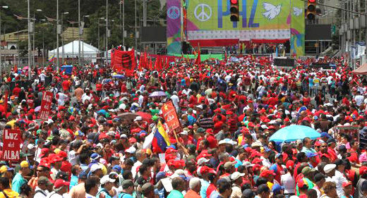 Venezuela's Bolivarian government defends against rightist violence