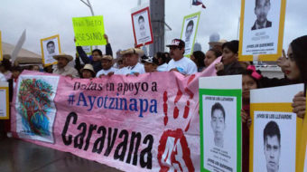 Ayotzinapa Caravana 43: Families call for missing students to be returned