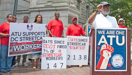 DC unions back streetcar workers fired for organizing
