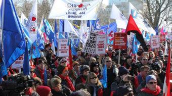 Canada's conservative government presses anti-union bill