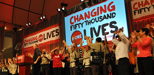 Unite Here: Organizing to change lives