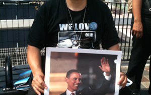 """On the streets in Charlotte: """"Obama … 4 more years!"""""""