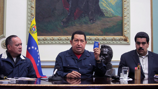 President Chavez of Venezuela to Cuba for cancer treatment