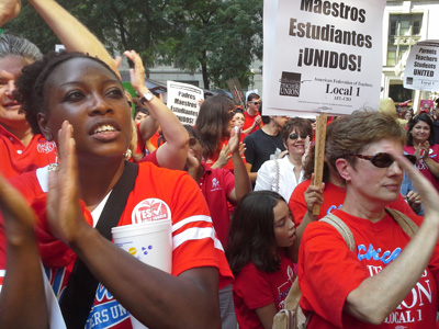 Chicago Labor Day rocks with solidarity for teachers