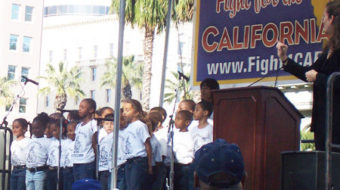 Thousands march for California's future