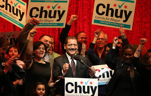 """SEIU pledges """"people power"""" to Garcia campaign in Chicago"""