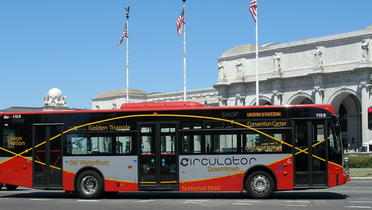 "Washington, DC ""Circulator"" bus drivers win right to refuse to drive unsafe buses"