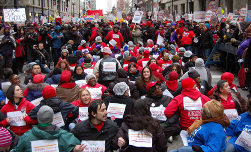 """Thousands rally against school closings, vow """"the fight has just begun"""""""