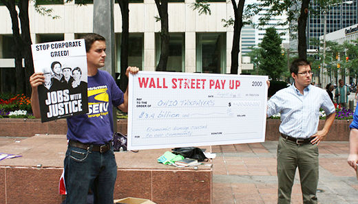 Cleveland protests Wall Street
