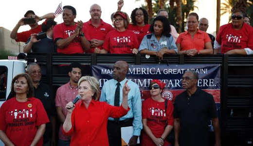 Some 23 unions announce support for Clinton
