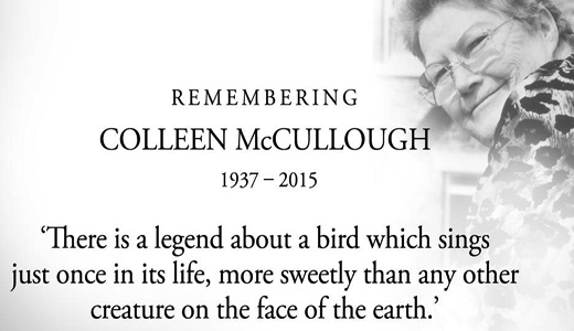 Colleen McCullough, 77: obit insults author, draws outrage