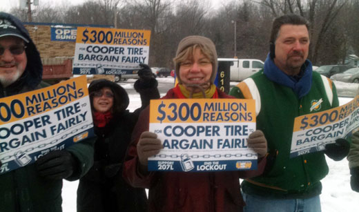 Nationwide protests demand: End Cooper Tire lockout, with video