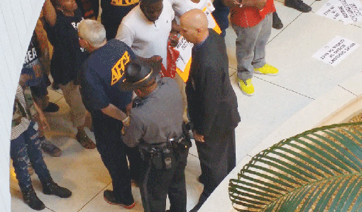 Union leaders arrested at North Carolina Moral Monday protest
