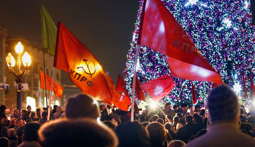 Russian Communists make big gains in elections