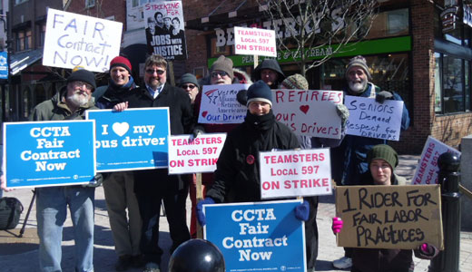 Burlington community backs bus drivers