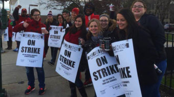 Thousands out on the picket lines at Chicago schools today