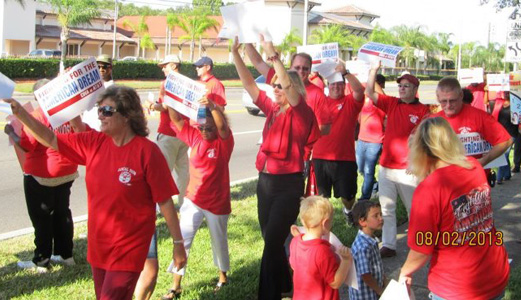CWA workers fighting for a fair contract with AT&T
