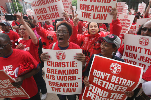 Another problem for Gov. Christie: lawsuit for failure to pay pensions