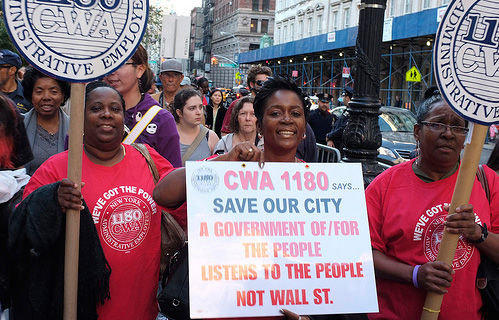 Communications Workers take on Wall Street