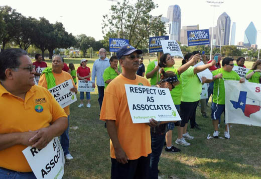 "Texas Walmart workers stage ""Rally for Respect"""