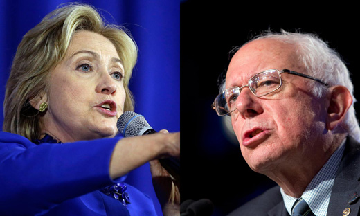 With Sanders closing in, Clinton says tax the rich