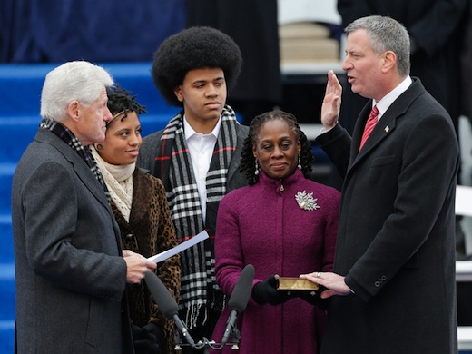 De Blasio takes over in New York