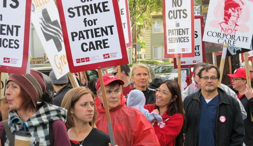N. Calif. registered nurses still fighting Sutter takeaways