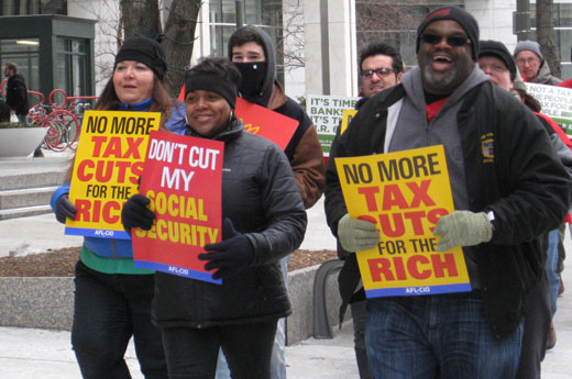 Demonstrators tell Wall Street: Pay your taxes