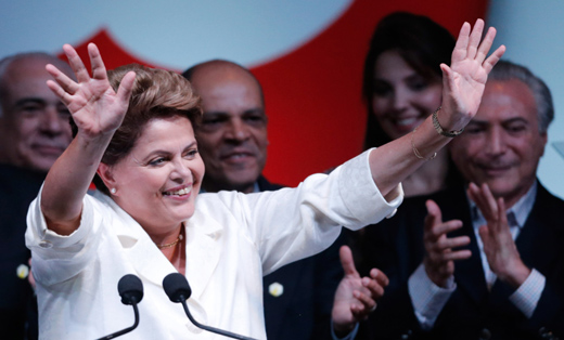Brazil's Dilma Rousseff re-elected in close vote