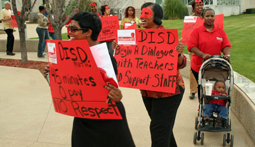 Teachers stand up and fight