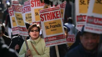 San Francisco hotel workers on strike