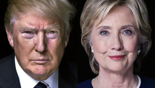 Clinton and Trump point America in two very different directions