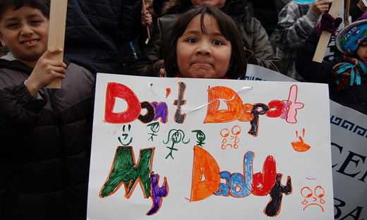 "The children cry out: ""Don't deport our parents!"""