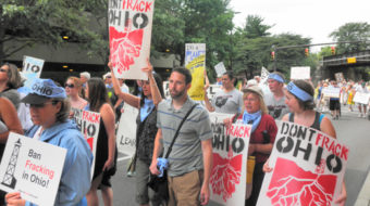 In Ohio, thousands protest new hydrofracking laws