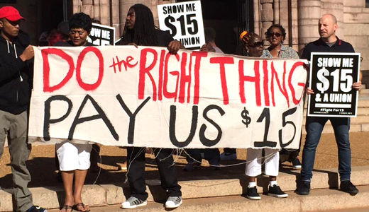 St. Louis workers celebrate increase in minimum wage