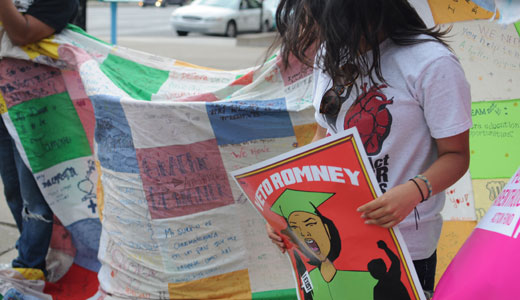 Undocumented youth, Latino voters protest Romney in Indiana