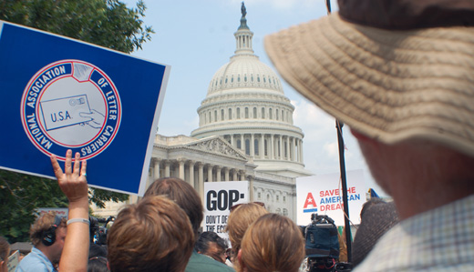 Activists rally in Washington to reclaim American dream