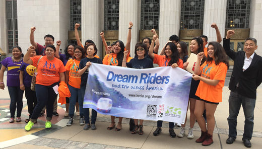 Dream Riders hit the road to respond to Donald Trump