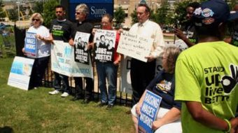 Activists demand re-hiring at Walmart