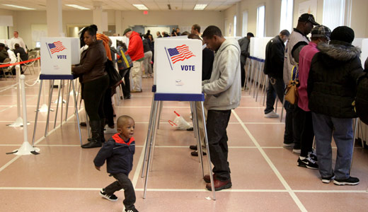 Record numbers vote early in Cleveland