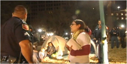 Occupy El Paso evicted from downtown plaza, seven arrested
