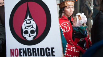Thousands protest Enbridge pipeline in Canada