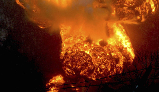 Hell on rails: West Virginia burning after crude oil train derailment