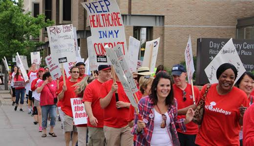 Week-long Minnesota nurses strike part of forced walkout in three states