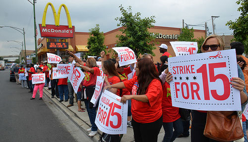 Fast food workers striking all over the world