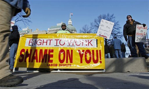 Indiana court tosses state's right-to-work law
