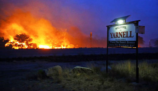 Wildfire cuts path of death and destruction through Arizona