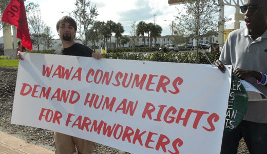 Workers target Wawa supermarket for better wages, working conditions