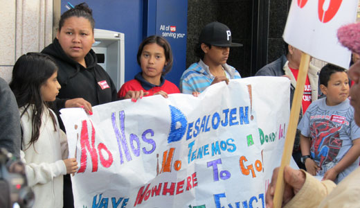 Foreclosed tenants tell bank: Let us stay!